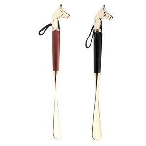 Image 5 - Металлическая рожковая ручка для обуви, длинная ручка для удаления обуви, прочная ручная рожка для обуви 32 см