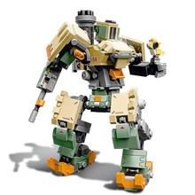 The Bastion Dorado Showdown and Gibraltar Model Kit Building Blocks Bricks Compatible legoing 75972 75974 75975 TOYS for Kids lepin 50003 overwatching games compatible legoing 75972 dorado showdown set building blocks bricks educational toys christmas