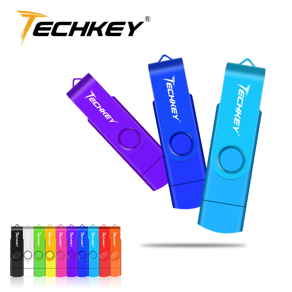 OTG USB Flash Drive 16GB 32GB флешка Pen Drive Smart Phone 32GB 64gb Otg Cle Usb 4GB 8GB Stick External Storage For Samsung