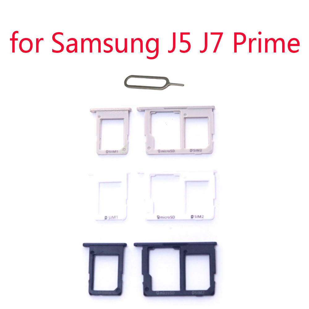 For Samsung Galaxy J5 Prime G570 G570F J7 Prime G610 G610F Original Phone Housing New SIM Tray Slot Micro SD Card Tray Holder