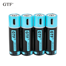 GTF1.5V USB AA литий-ионная батарея 2550mwh 1500mah емкость литий-полимерный USB Аккумуляторная Литиевая usb батарея USB кабель