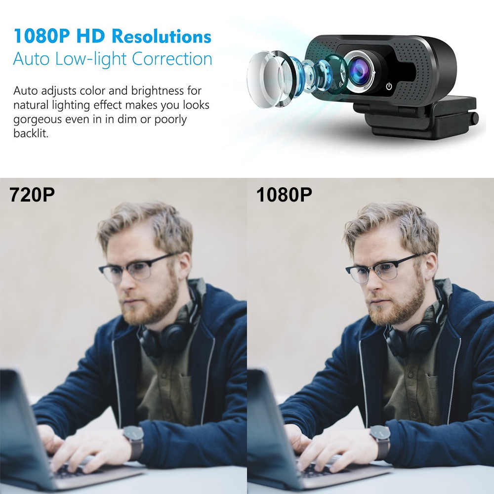Usb Webcam Hd 1080p Built In Microphone Digital Video Recorder Web Camera For Home Office Computer Live Equipment Zoom Meeting Aliexpress