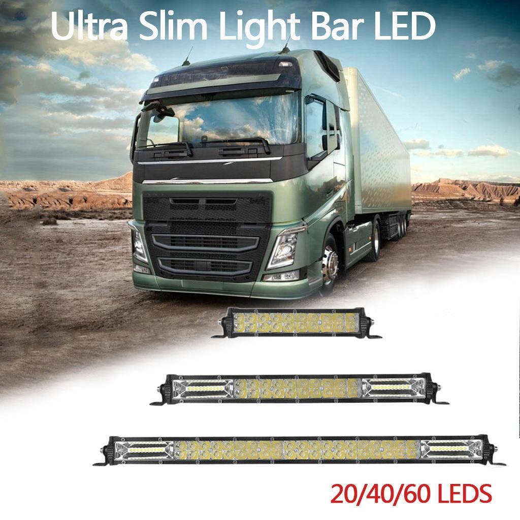 """2021 nowy 1 PC 7 """"13"""" 20 Ultra cienki pasek światła LED plamy powodzi Combo mgła podwójne rzędy offroad Slim światła Bar LED lampy # Ger"""
