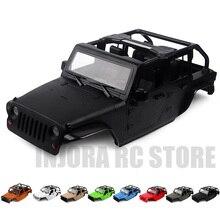 313mm rozstaw osi kabriolet otwarta obudowa samochodu 8 kolorów dostępne dla 1/10 samochód zdalnie sterowany RC Axial SCX10 90046 Jeep Wrangler
