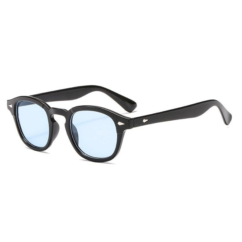 Vintage Johnny Depp Sunglasses Men Retro Round Ocean Lens Sun Glasses for Men Brand Designer Sunglass Man UV400 Oculos De Sol in Men 39 s Sunglasses from Apparel Accessories