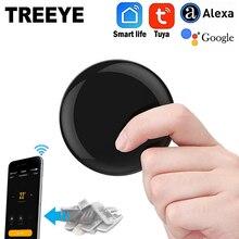 Treeye ir controlador blaster infravermelho controle remoto sem fio via vida inteligente tuya app trabalho com alexa google casa