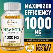 Minch cápsulas de óleo de cânhamo suplemento dietético orgânico alívio da dor extrato de cânhamo cápsulas softgel memória & sono produtos de saúde