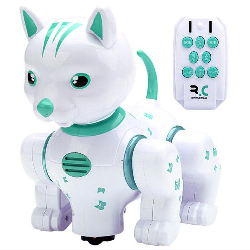 Robô Inteligente Gato Música Puzzle Brinquedo Iluminação