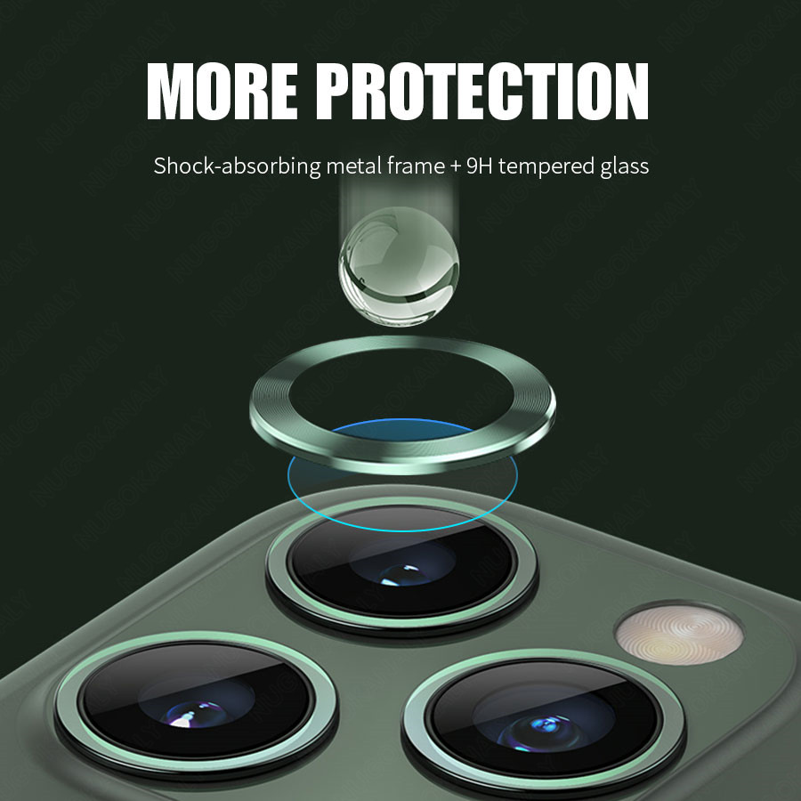 Camera Lens Screen Protector Glass For iPhone 11 Pro Max Case Rear Camera Ring Back Cover Protection 3