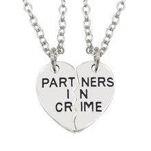 Bff homens e mulheres moda melhor amigo simples colar liga em forma de coração costura pingente rotulação melhor companheiro jóias presente