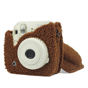 Image 4 - حافظة كاميرا Fujifilm Instax Mini 9 Mini 8 ملحقات كاميرا فيلم فورية غطاء مخملي حقيبة بحزام للكتف واقي للكيس