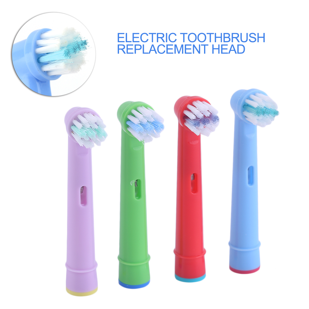 4pcs Replacement Kids Children Tooth Brush Heads For Oral B EB-10A Pro-Health Stages Electric Toothbrush Oral Care, 3D Excel image