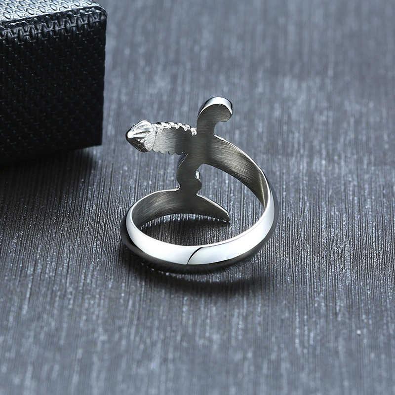 Vnox уникальное кольцо с кинжалом для мужчин серебро Нержавеющая сталь Жесткий человек ювелирные изделия панк нож мужской мистер Анель Гент Alliance