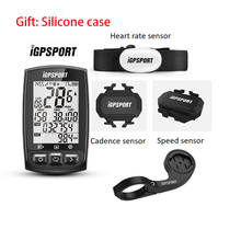 IGPSPORT cronómetro inalámbrico para bicicleta IGS50E, con ANT +, GPS, Bluetooth, velocímetro, resistente al agua