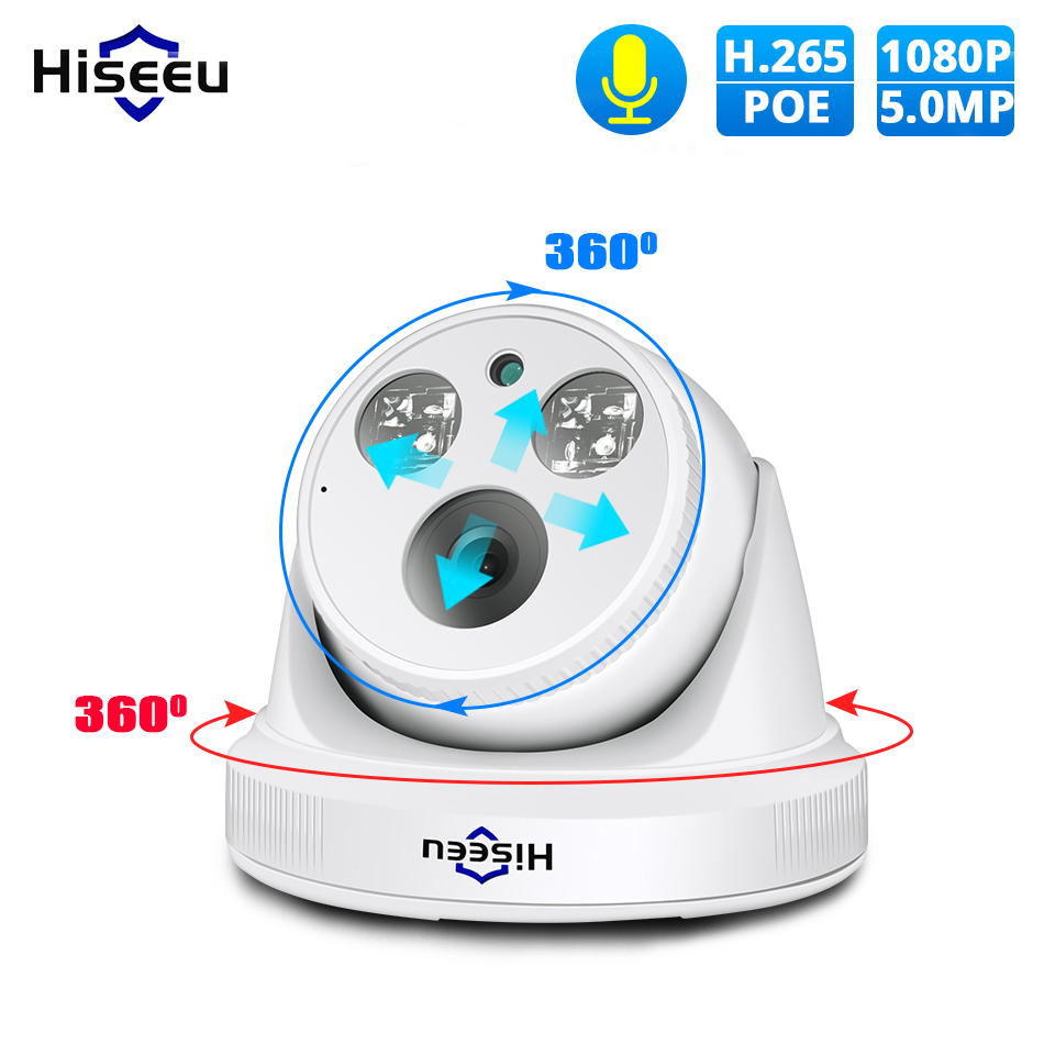 Hiseeu 2MP 5MP POE IP Camera H.265 1080P Bullet CCTV IP Camera ONVIF For POE NVR System Indoor Home Security Surveillance IR Cut