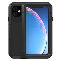 360 Full Protective For iPhone 11 Pro Max Case Hard Shockproof Glass Metal Armor Cover For iphone XI Max XIR 2019 Case Aluminum