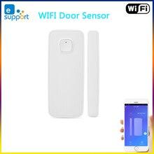 EWelink WiFi דלת חיישן דלת פתוחה/סגור גלאי הצמדה עם אחרים WIFI חכם מתג על אפליקציה