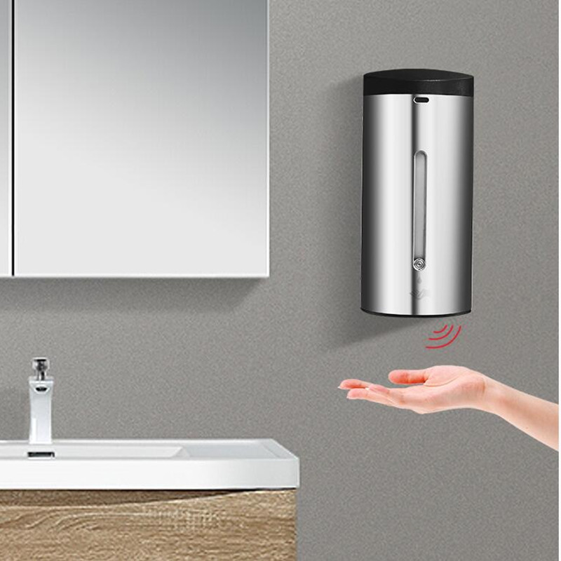 Badkamer 304 SS Materiaal automatische sensor Zeepdispenser Vloeibare Douche Shampoo dispensoer Wandmontage hotel producten - 4