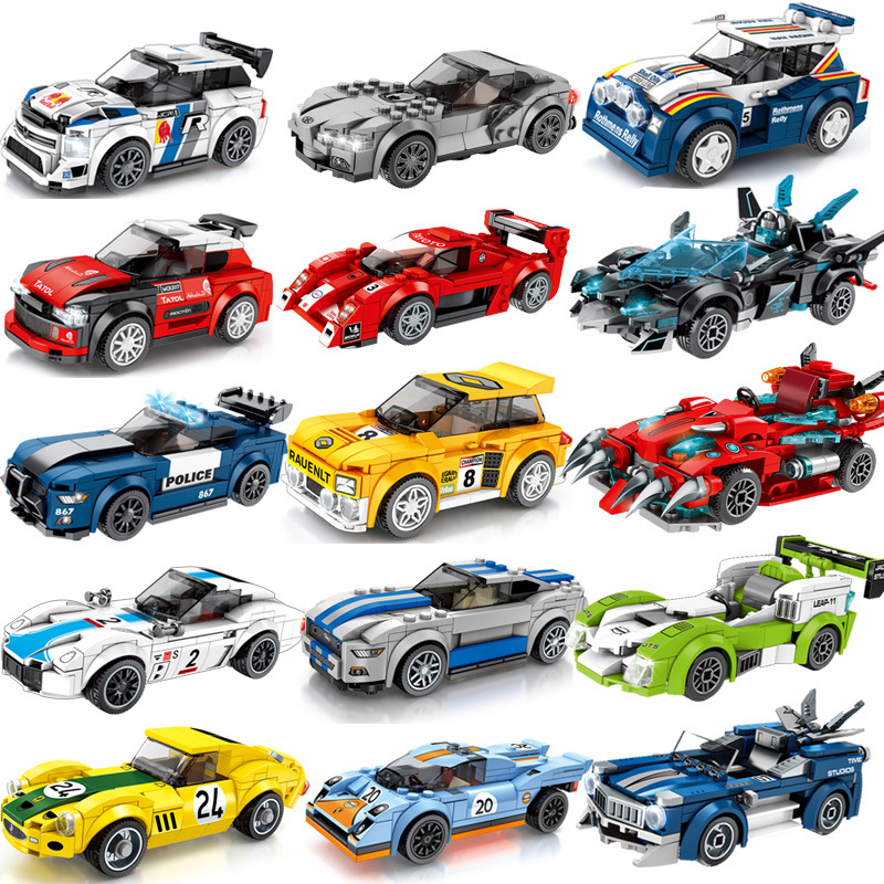 Technic City Blocks Compatible Legoed Toys City Building Blocks Racing Car Vehicle Toys Playmobil Block Toys For Children