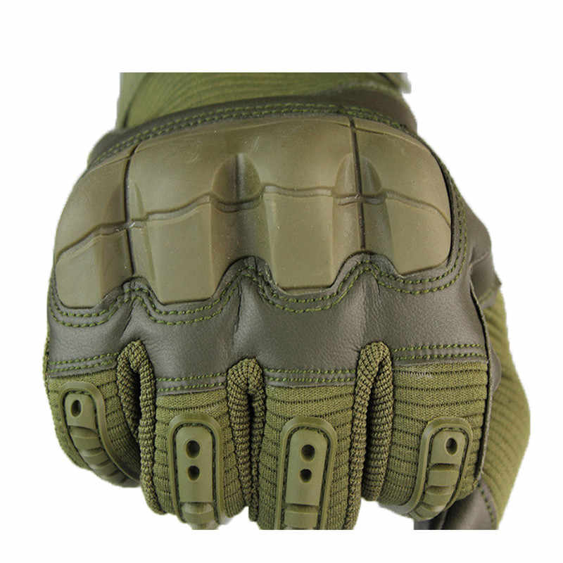 Taktyczne z pełnymi palcami do ekranów dotykowych rękawice ze skóry PU wojskowe rękawice bojowe Airsoft Outdoor wspinaczka górska sportowe rękawice męskie