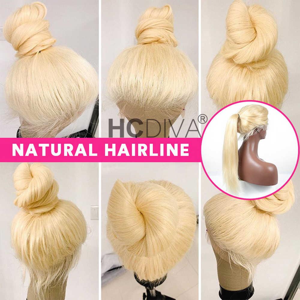 Brazylijska peruka typu Lace 4*4 prosto zamknięcie koronki ludzki włos peruka Remy włosów ludzkich peruk 613 blond przejrzyste koronki peruka wstępnie oskubane z dzieckiem włosy