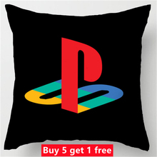 Customized Hot Sale Luxury Printing Custom Playstation Funny Vintage Style Square Pillowcase Throw Pillow Cover