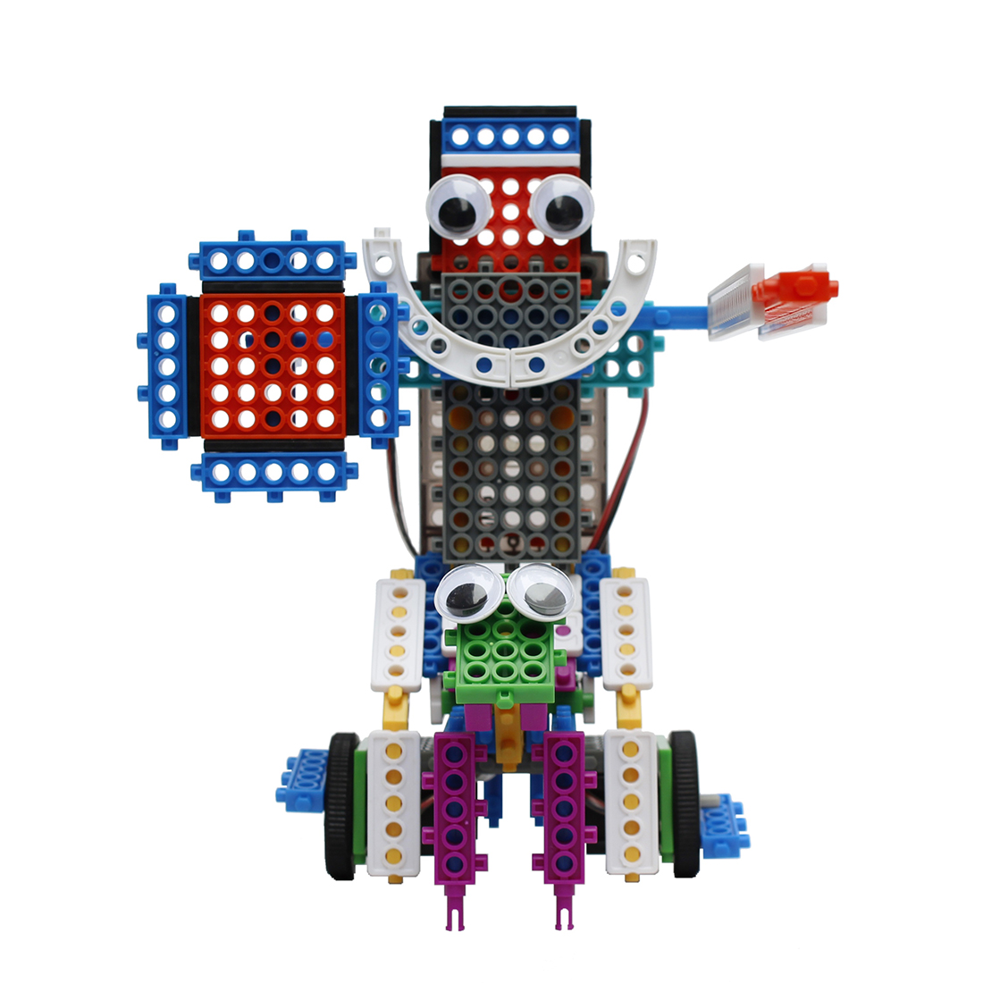 Creative 4 In 1 My DIY Robot Creative Toy Land Series Robot Building Block Kit Assembly Educational Robot Toy - 3-Exciting