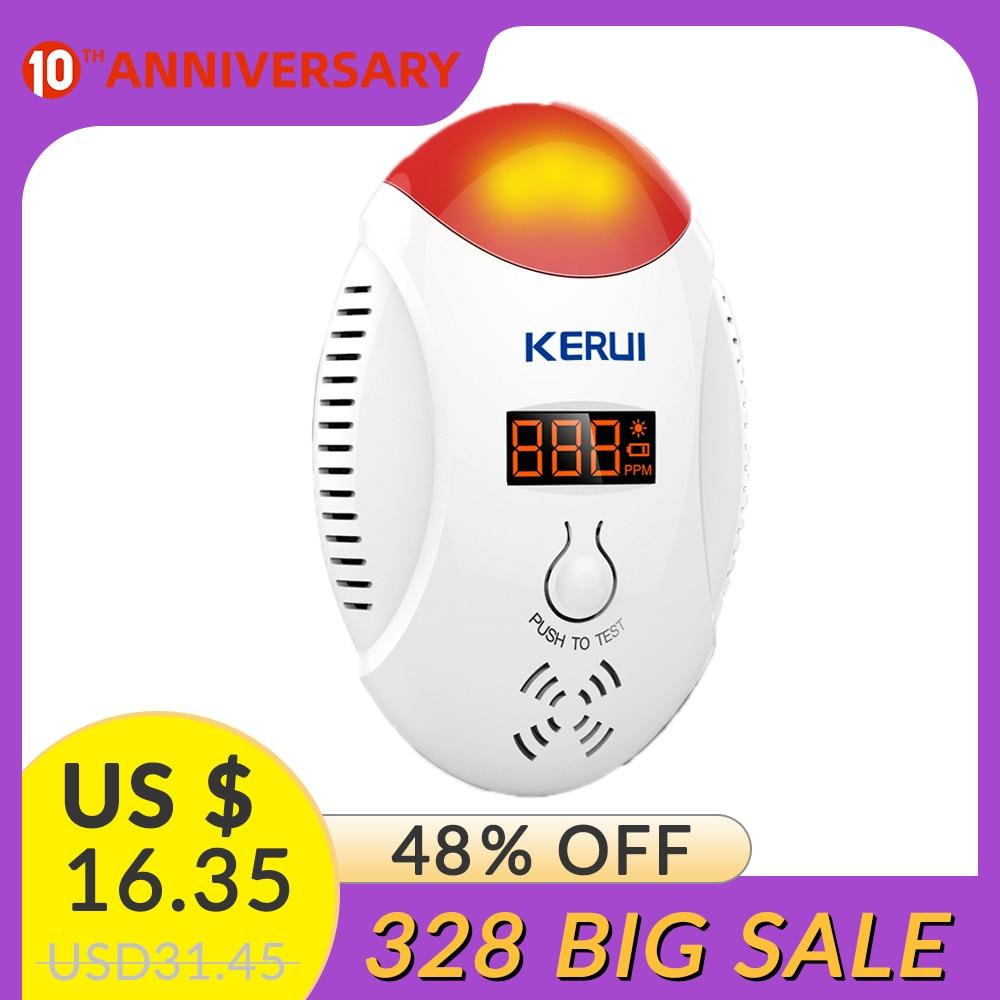 KERUI Sensitive Gas Concentration Detection Alarm System Carbon Monoxide Concentration Monitoring Voice Alarm System