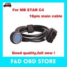 Лучшее качество SD Подключение Compact4 OBD2 16PIN кабель для MB Star SD C4 OBD II 16 pin основной испытательный кабель