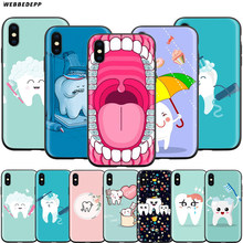 Webbedepp Dokter Tandarts Tand Case Voor Apple Iphone 11 Pro Xs Max Xr X 8 7 6 6S Plus 5 5S Se(China)
