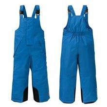 Зимние штаны для мальчиков теплые флисовые комбинезоны катания