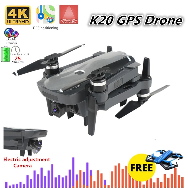 K20 Mini Drone 4K Quadcopter With 5G Wifi FPV Camera Foldable Quadrocopter 1800M 25mins Flight Time VS F11 SG906 E520S H117S