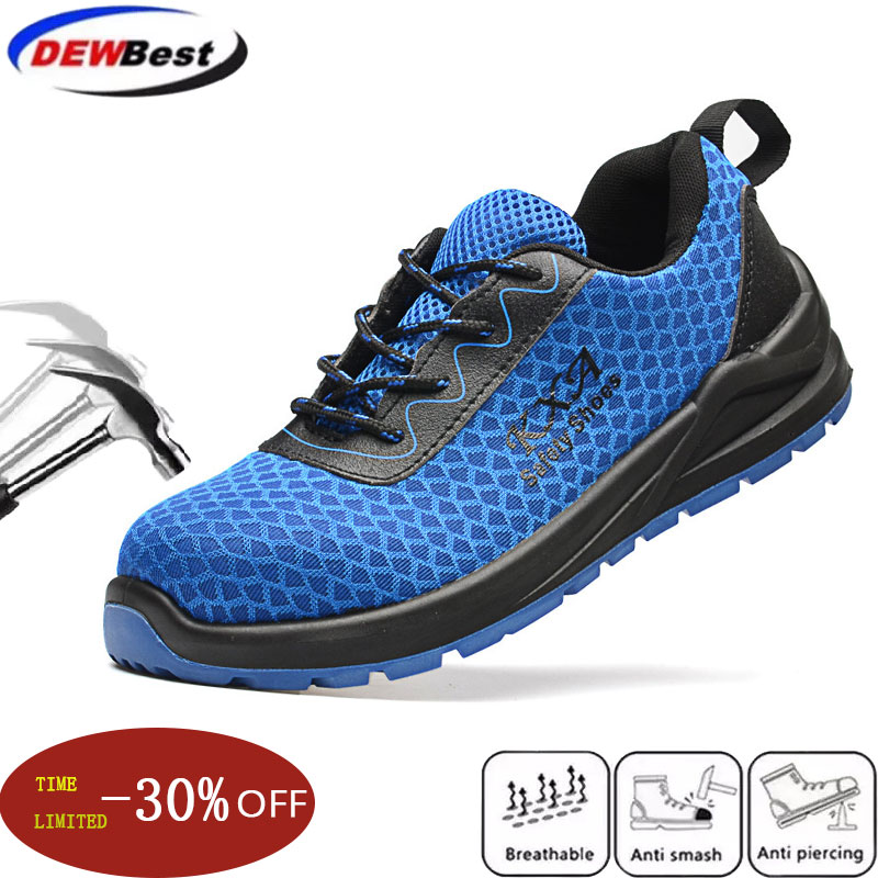 plus size men's luxury fashion steel toe cap work safety shoes anti-puncture building site worker shoe tooling security boots