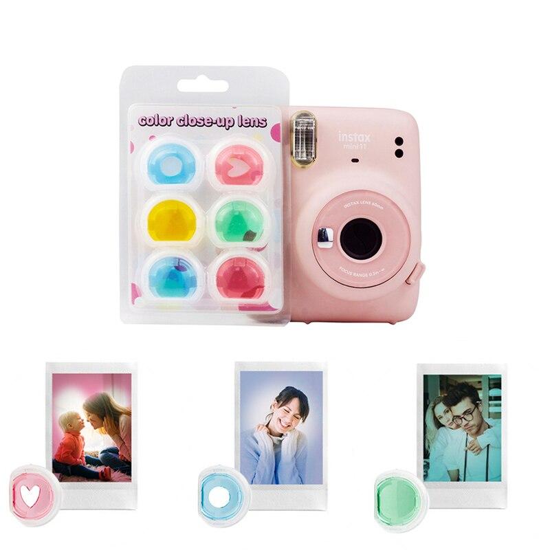 Mini11 Камера цветная видеокамера крупным планом Цветной фильтр для объектива для ЖК-дисплея с подсветкой Fujifilm instax Mini 11 Аксессуары для объекти...