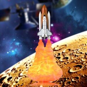 Дропшиппинг 3D печать космический челнок лампа ракета Ночной светильник s для космического любовника домашний стол настольная Луна ночник л...