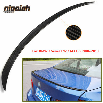 E92 Rear Spoiler for BMW E92 M3 2006-2013 3 Series E92 2 Door Carbon Fiber Rear Trunk Boot Lid Wing Spoiler CS / PSM / M4 Style image