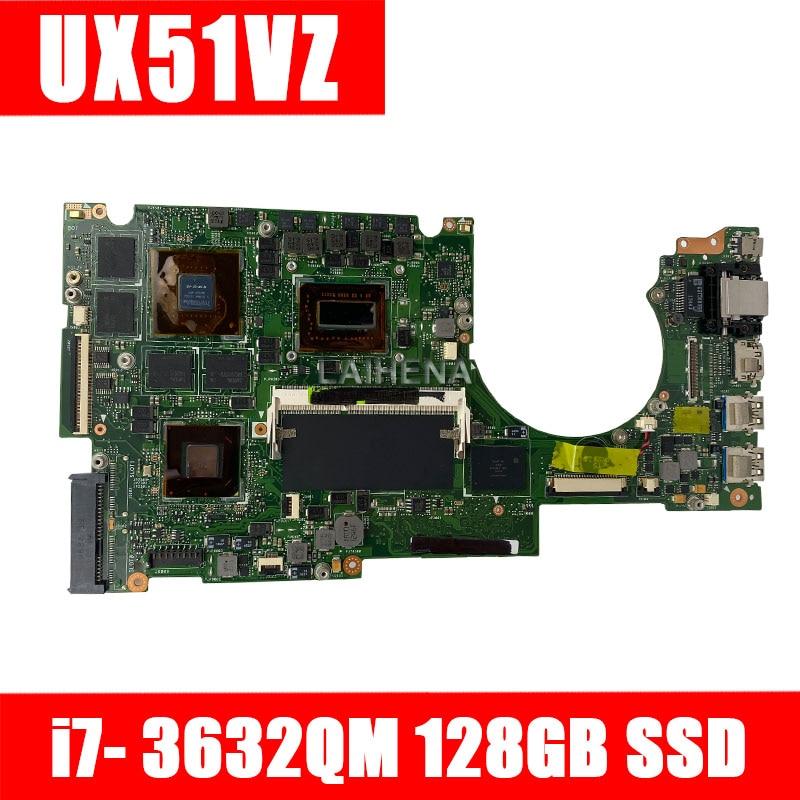 UX51VZ Motherboard REV 2.0 I7-3612QM For ASUS UX51V UX51VZ UX51VZA UX51VZ Laptop Motherboard UX51VZ Mainboard Motherboard