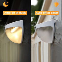 Solar 6 LED Light Outdoor Fence Roof Up-Stair Wall Mounted Yard Lamp Solar Powered Fence Roof Gutter Garden Yard Wall Lamp черепица гибкая рулонная tegola garden roof красная