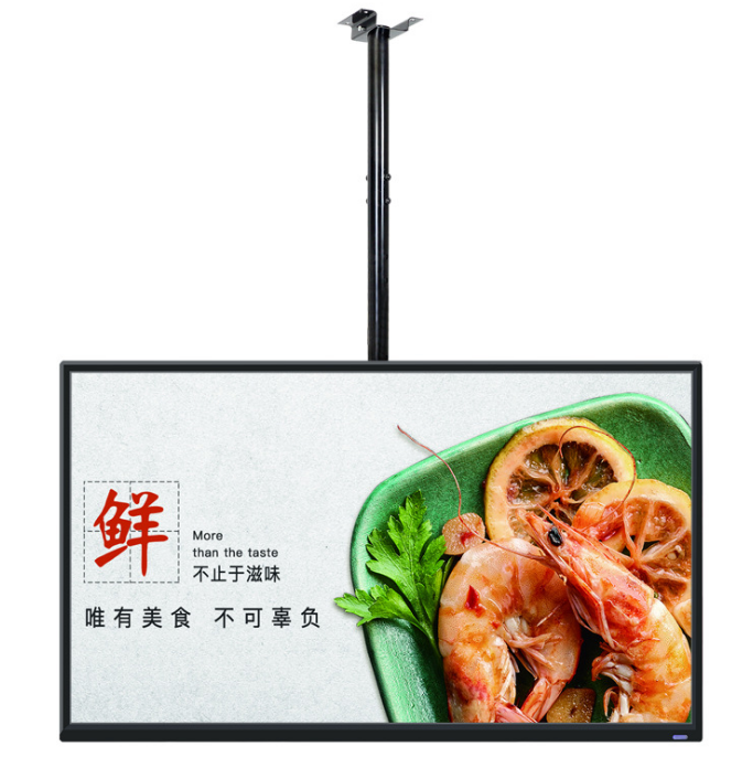 Shopping Malls Store Restaurant 43'' Inch Lcd Advertising Display Indoor Ceiling Installation Shop Window Display