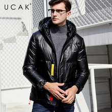 UCAK Brand Duck Down Jacket Men 2019 Winter Fashion Stylish Hooded Coat Men High Quality Thick Warm Jackets Coats Clothing U8015 men fashion brand man coat thick coats jackets warm men s outdoors hooded overcoat plus size