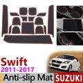 Противоскользящий коврик для телефона ворота шлифовальные маты для Suzuki Swift 2011 ~ 2017 аксессуары наклейки Maruti DZire Sport ZC72S ZC82S ZC32S 2014