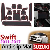 Anti Rutsch matte für Telefon Tor Slot Matten für Suzuki Swift 2011 ~ 2017 Zubehör Aufkleber Maruti DZire Sport ZC72S ZC82S ZC32S 2014-in Autoaufkleber aus Kraftfahrzeuge und Motorräder bei