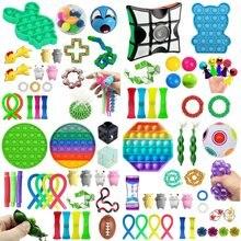 Gorąco!!! Zabawki typu Fidget Pack antystresowe zabawki dekompresyjne Premium proste dołek ręcznie Stress Relief to zabawka dla dzieci dorośli prezent