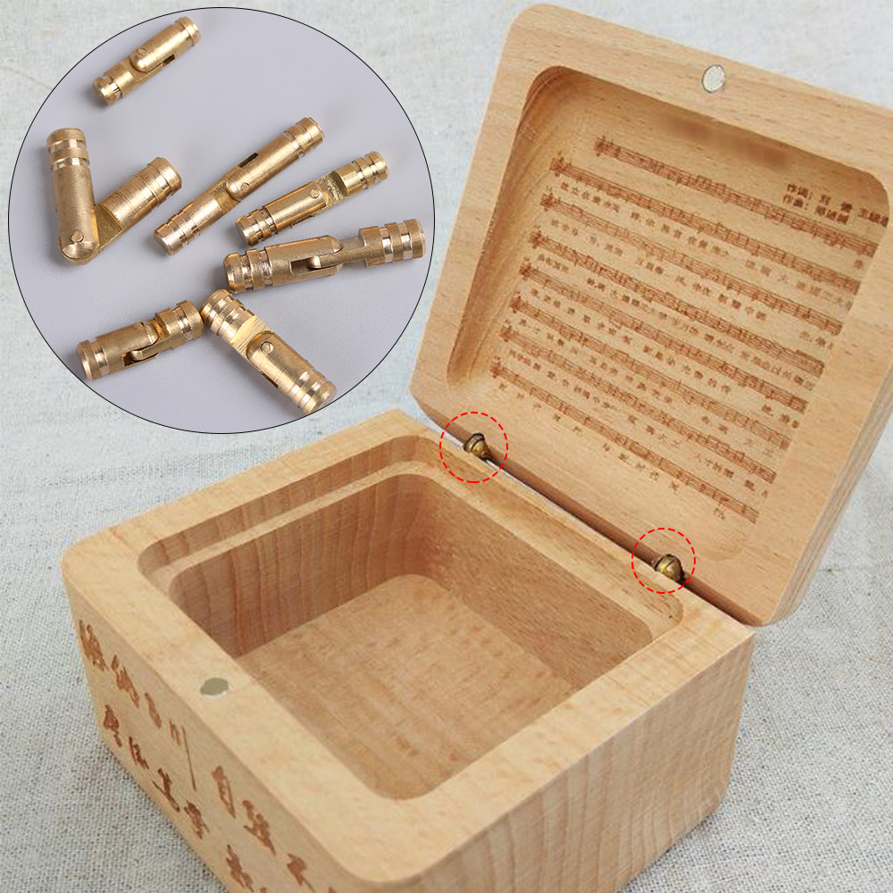 10 Pcs/pack Invisible Concealed Barrel Hinge Pure Copper Furniture Hardware Jewelry Box Wine Wooden Case Folded Close Connector(China)