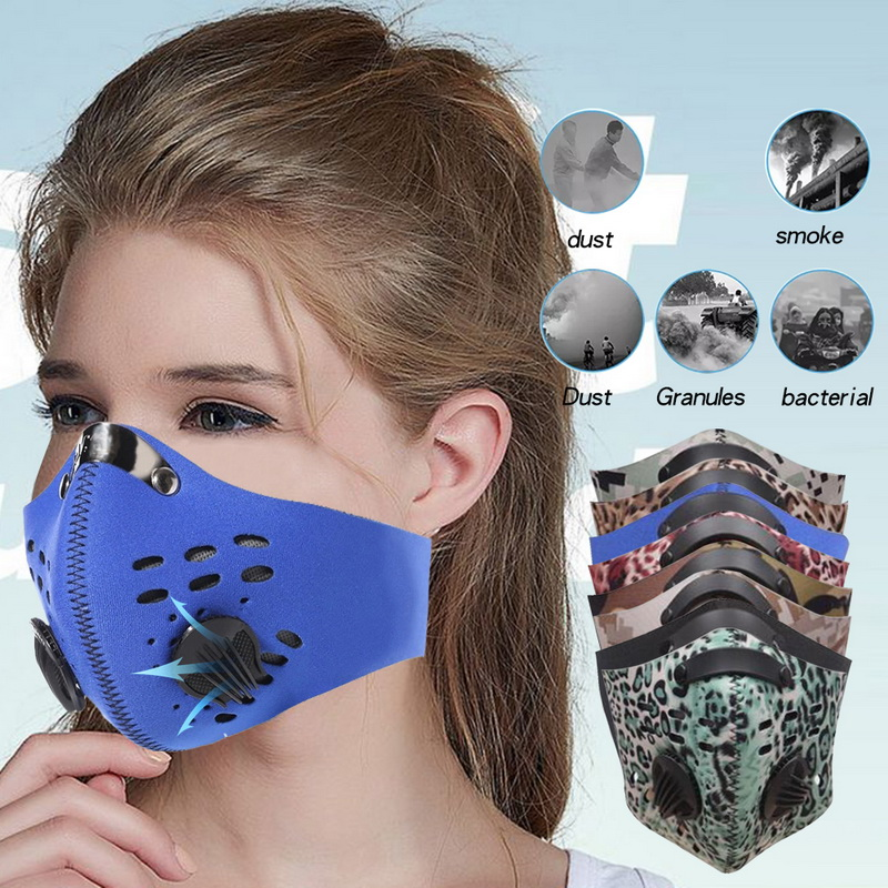 Anti Dust Mask Half Face Mask Safety Breathing Mask Cycling Half Face Mask Respirator Activated  Anti Cold Sports Masks