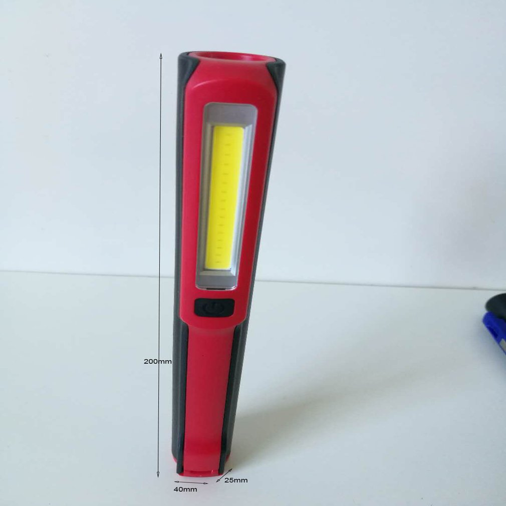Portable Handheld COB LED Flashlight Multifunction Torch Light Magnetic Working Inspection Lamp Pocket Light USB Charging