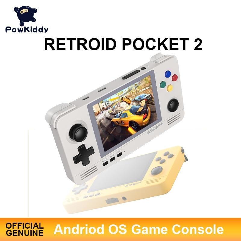 POWKIDDY драконов карман 2 чехол для телефона в виде ретро-игровой карман игровой консоли 3,5 дюйма IPS Экран устройств на базе Android и Pandora двойной Системы переключение 3D игры