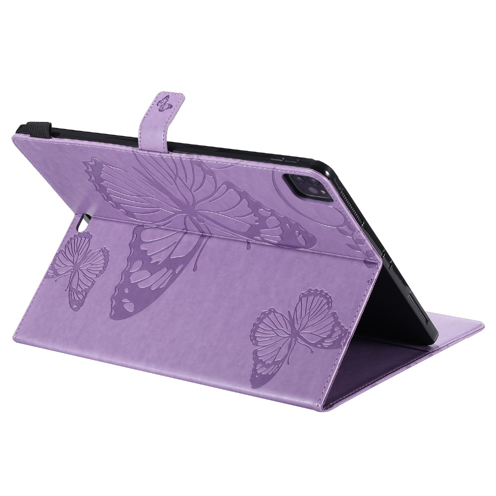 Folio 2018 iPad Cover Folding Embossed 12.9 Butterfly For Pro Fundas 2020 Case Tablet