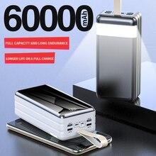 PINZHENG قوة البنك 60000 mAh ل فون Xiaomi سامسونج هواوي 60000 mAh بطارية الخارجية المحمولة شاحن LED ضوء Poverbank