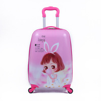 New 18inch kids luggage Cartoon PC Suitcase Boarding Rolling Luggage Travel Bag Kids Suitcase Gift Drop Shipping